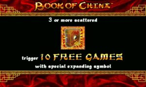 Book of China free spins